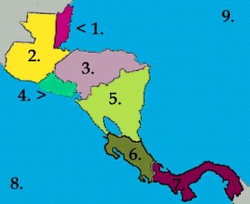 Central America - Map Quiz Study #1
